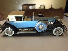 JIM BEAM DECANTER 1934 DUESENBERG LIGHT BLUE model J 1983 AUTO CAR