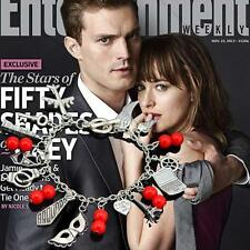 Luxury FIFTY 50 SHADES OF GREY INSPIRED CHARM BRACELET CHRISTIAN GREY Gift NEW