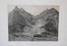 Lithographie - Hospice de Luchon - Pyrénées - Circa 1850