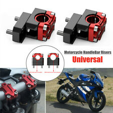 1Pair of Motorcycle HandleBar Risers 22mm/28mm Handle Bar Mount Clamp Riser Red