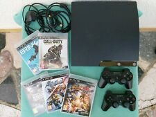 Sony PS3 PlayStation 3 Slim 250 Go Console + 2 manettes + 5 jeux
