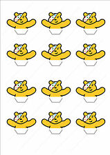 Novelty Pudsey Bear Jumping Out Of Cake Edible Cake Cupcake Toppers Decorations