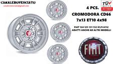 4 Cerchi Fiat 124 128 Cromodora CD66 7x13 4x98 13 pollici felgen wheels jantes