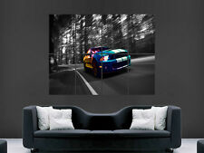 FORD MUSTANG SHELBY GT500 ELANOR ABSTACT  ART LARGE ART HUGE  POSTER PRINT !!!