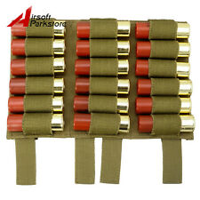 18 Round Shell Shotgun Ammo Holder Pouch Carrier 12GA 20GA Molle Belt for Vest
