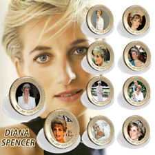 WR 24K Princess Diana Gold Coin Set 20th Anniversary Souvenir Gifts Collectible