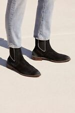 e8154196638b Free People Womens Black Leather Chelsea Boot EU41 MSRP  178