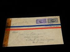 Vintage Cover, SAN JOSE, COSTA RICA, CENSOR, 1944, Multi-Stamped To Detroit, MI