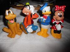 Disney Figurines plastic (4) Minnie,Goofy,Donald,Pluto