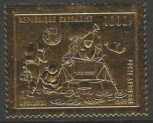 GABON :1969 1000f First Man on the Moon-gold foil SG369 MNH