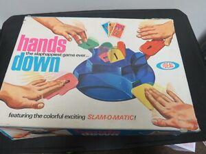 Vintage 1964 Ideal Hands Down Game in Original Box - Works!