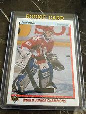 (32)1990-91 Upper Deck Felix Potvin Rookie card #458 lot Kings Leafs HOF? UD RC