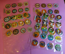 Pogs 1994 WORLD POG FEDERATION * Set of 1 - 70 * Gold Numbered Back * Nice Set