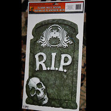 Graveyard Cemetery RIP TOMBSTONE SKULL Sticker Cling Decal Halloween Decoration