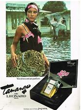 """Publicité Advertising 1977 Parfum """"Tamango"""" par Leonard"""