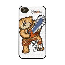 BAD TASTE BEARS - HARD CASE I PHONE 4/4S COVER  - CUT YOU OFF - NEW