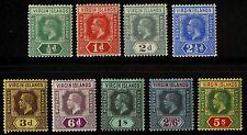 Virgin Islands   1913  Scott # 38-46  Mint Lightly Hinged Set