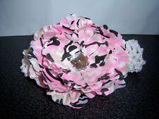 WHOLESALE BABY PEONY FLOWER headband DAISY pink CAMO