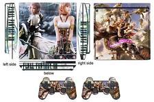 Skin Sticker PS3 PlayStation 3 Slim and 2 controller skins Final Fantasy Q111