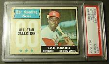 1968 68 TOPPS #372 LOU BROCK ALL STAR PSA 9 CENTERED