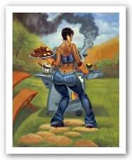 AFRICAN AMERICAN ART PRINT BBQ Sterling Brown 10.5x8.5