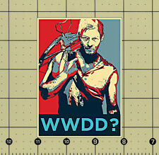WHAT WOULD DARYL DO? REFRIGERATOR MAGNET THE WALKING DEAD DARYL DIXON WWDD