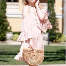 NWT Tularosa Hattie Shift Dress Size Small S Pink White Polka Dot Cold Shoulder