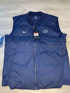 Nike NWT Penn State Nittany Lions Nike Vest Men's Large Navy Blue MSRP $120