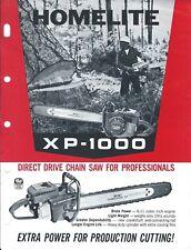 Equipment Brochure Ad - Homelite - XP-1000 - Chain Saw - c1960's (E4374)