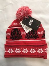 Star Wars Darth Vader Beanie With Pom Red One Size Fits Most Adult