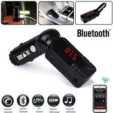 Dual USB Auto Kabellos Bluetooth Stereo MP3 Player FM Transmitter Ladegerät NEU
