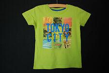 WE | T-Shirt | Kurzarmshirt Shirt m. Print | 110 116 | APFELGRÜN | für Jungs