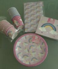 10 x Unicorn Rainbow Birthday Party Decoration tablewear Plates treat Cups Cover