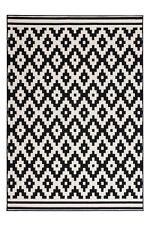 Teppich Flachflor Scandic Arabesque Design Modern Schwarz Weiß SALE 80cm x 150cm