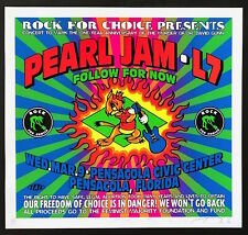 Mint & Signed Pearl Jam 1994 Pensacola Taz A/P Poster