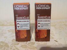 L'Oreal Men Expert Barber Club - Beard and Skin Oil 2 x 30ml - Free postage NEW