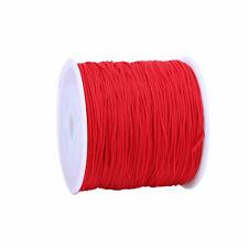15m RED POLYAMIDE NYLON VERY STRONG 1mm NON ELASTIC BEADING CORD/THREAD (AA)