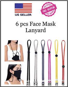 6 Pcs Adjustable Lanyard Face Mask Extender Ear Savers For Mask Strap Holder