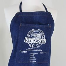 Union Apron National Postal Mail Handlers Blue Denim w/Officers 3 Large Pockets