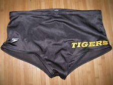 SPEEDO Swimsuit Brief Size 30 Nylon RACING DIVING Vintage TEAM UNIFORM TIGERS