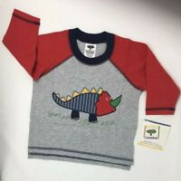Mulberribush Baby Boys T-Shirt Gray Size 12 Months Long Sleeve Dinosaur Tee NEW