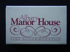ALBURY MANOR HOUSE WESTMINSTER FINE FOOD 060 411777 MATCHBOX