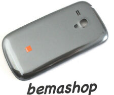 Original Samsung Galaxy S3 Mini i8190 Orange Akkudeckel Backcover Grau Wie Neu