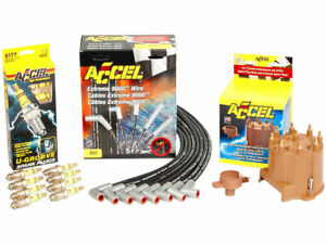 For Ram 3500 Van Distributor Cap Rotor Spark Plugs and Wires Kit Accel 11657QD