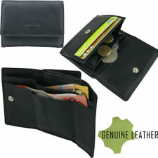 Genuine Full Grain Leather Coin Card Note Wallet Compact Design Quality Leather
