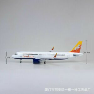 1/80 Airbus A320 Bhutan Airlines Passanger Airplane Plane Model 47cm Child Toy