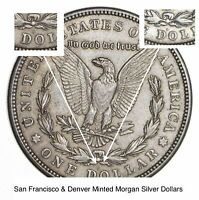 1921 D & S - 2 Coin Mint Mark Set Morgan Silver Dollar 90% Eagle Last Year