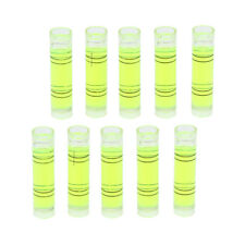 10pcs Acrylic Tube Bubble Spirit Level Vial Measuring Instrument Cylindrical