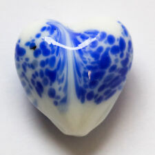 5 pieces 20mm Lampwork Glass Heart Beads - A4462