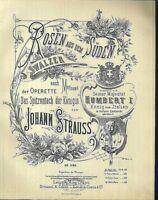 Johann Strauss, ROSEN AUS DEM SÜDEN Op. 388  übergroße, alte Noten